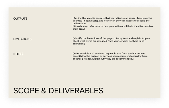 Project Scope & Deliverables
